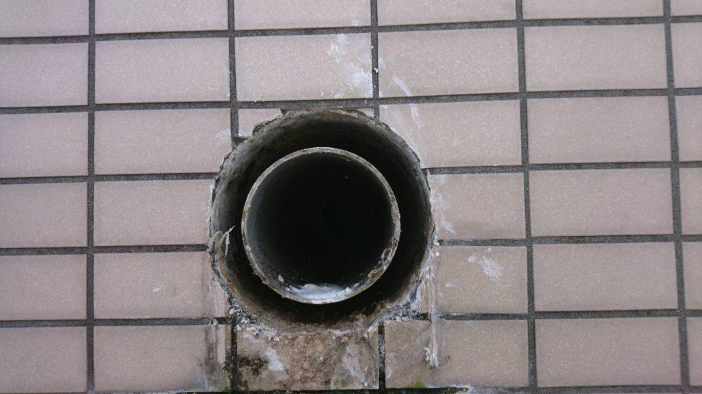 外壁からの水漏れの施工前写真